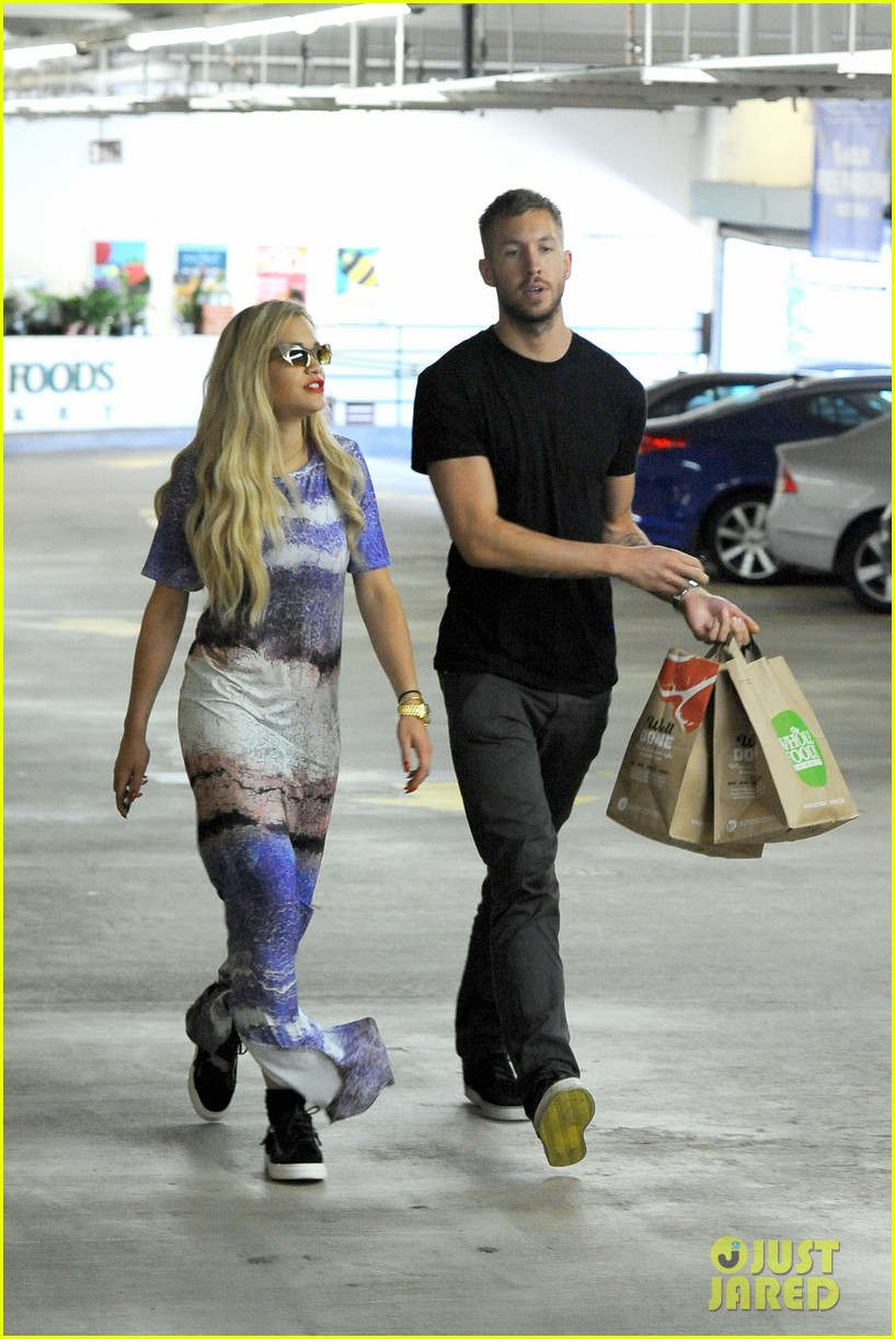 rita ora calvin harris cuddle up at whole foods 08
