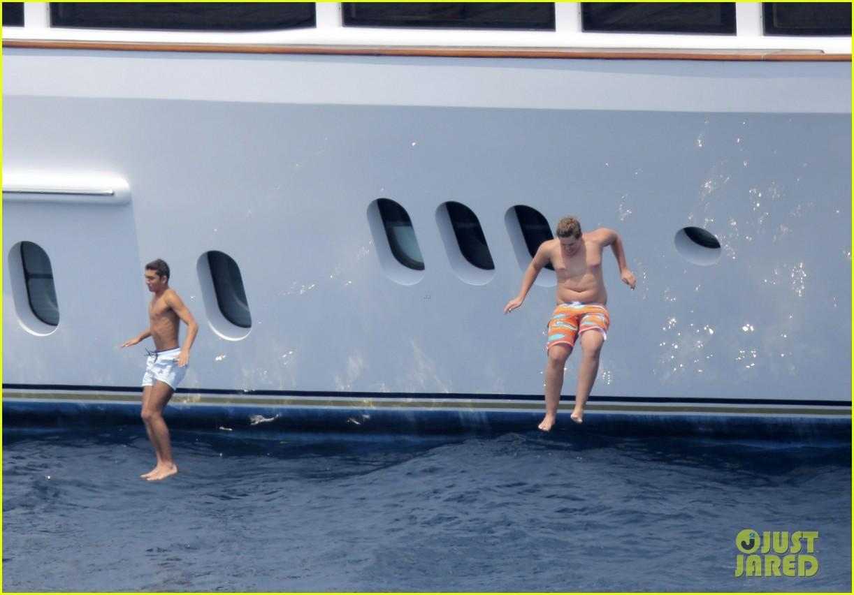 patrick schwarzenegger shirtless vacation continues 072891290