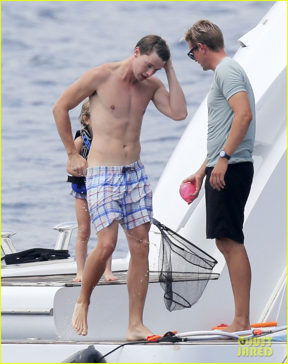 patrick schwarzenegger shirtless vacation continues 142891297