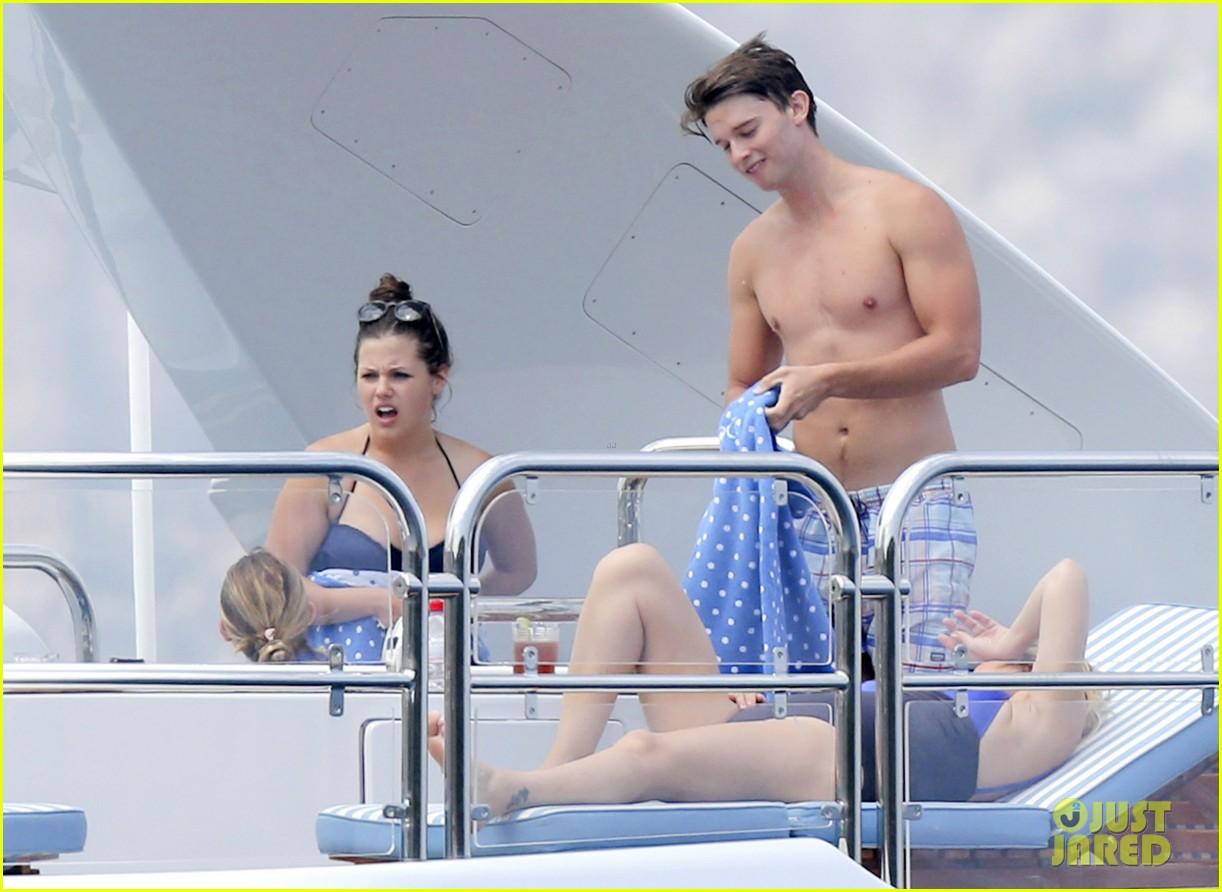 patrick schwarzenegger shirtless vacation continues 172891300