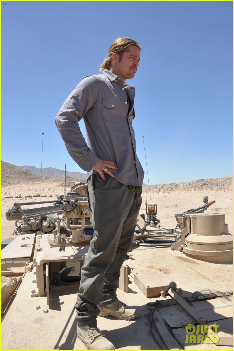 brad pitt shia labeouf visit fort irwin to prep for fury 032900990