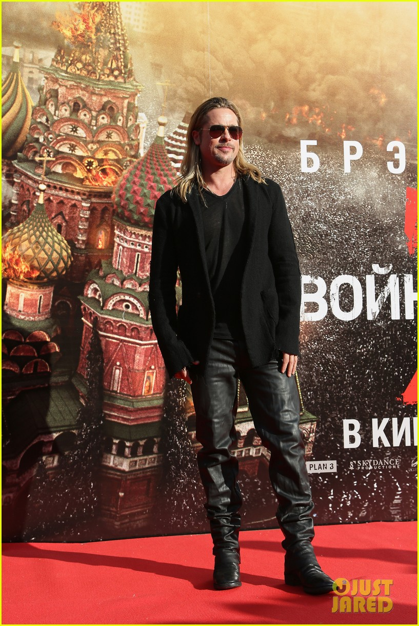 brad pitt world war z at moscow film festival 01