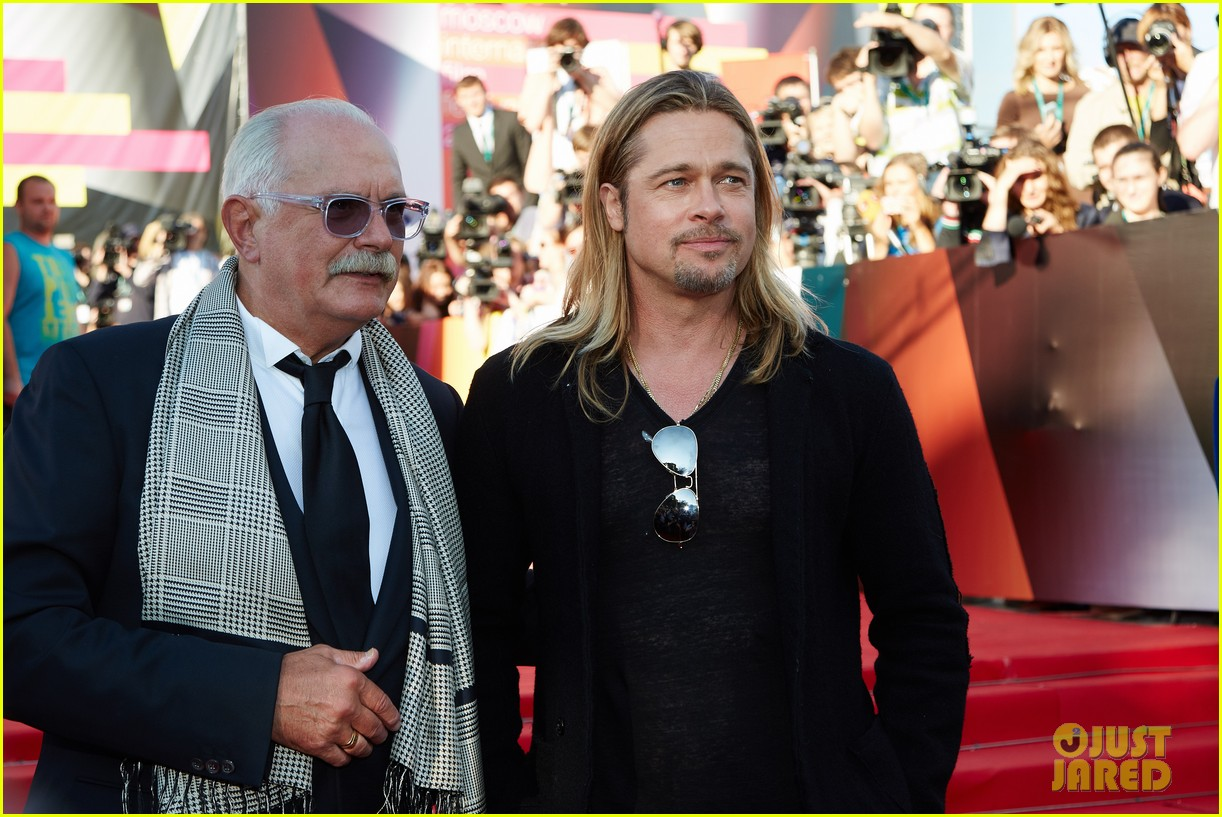 brad pitt world war z at moscow film festival 042895134
