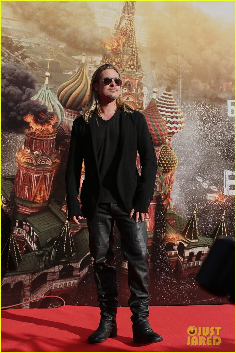 brad pitt world war z at moscow film festival 052895135