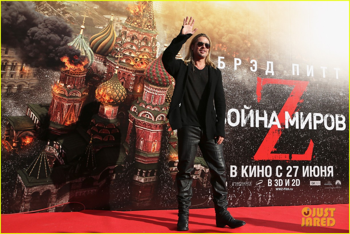 brad pitt world war z at moscow film festival 09