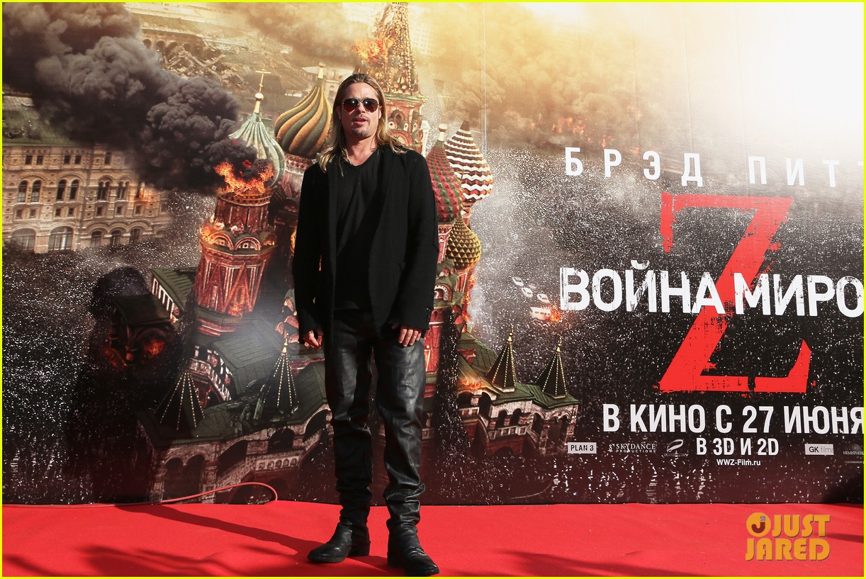brad pitt world war z at moscow film festival 102895140