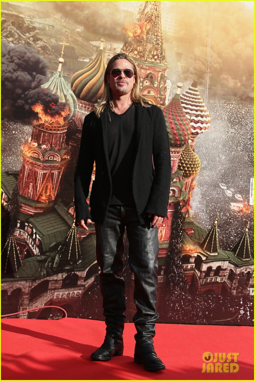 brad pitt world war z at moscow film festival 11