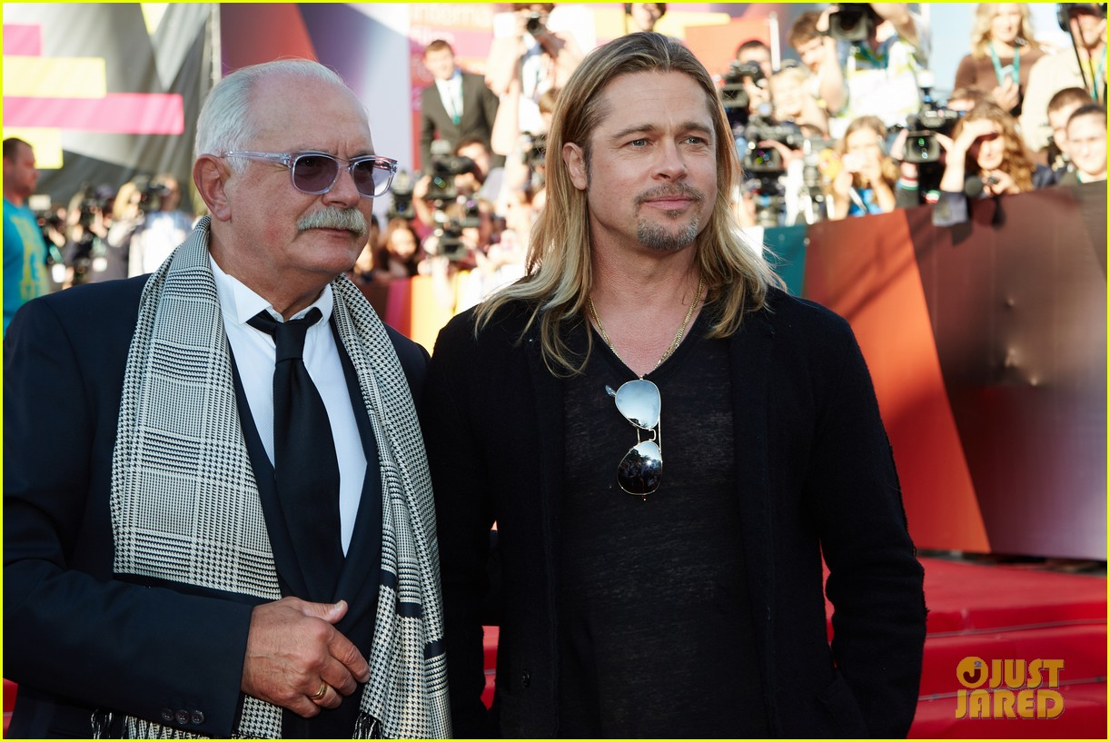 brad pitt world war z at moscow film festival 16