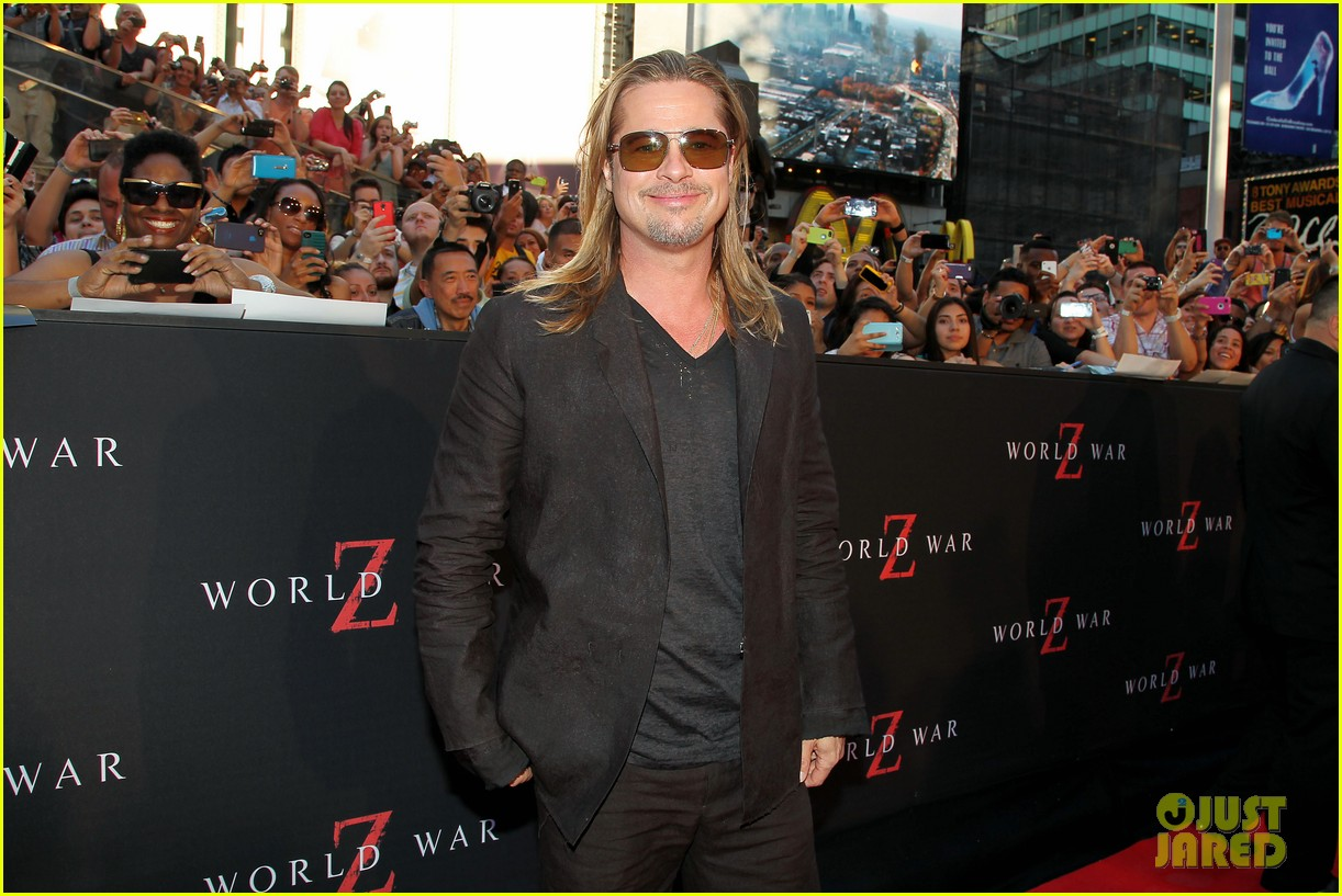 brad pitt world war z new york premiere 212893163