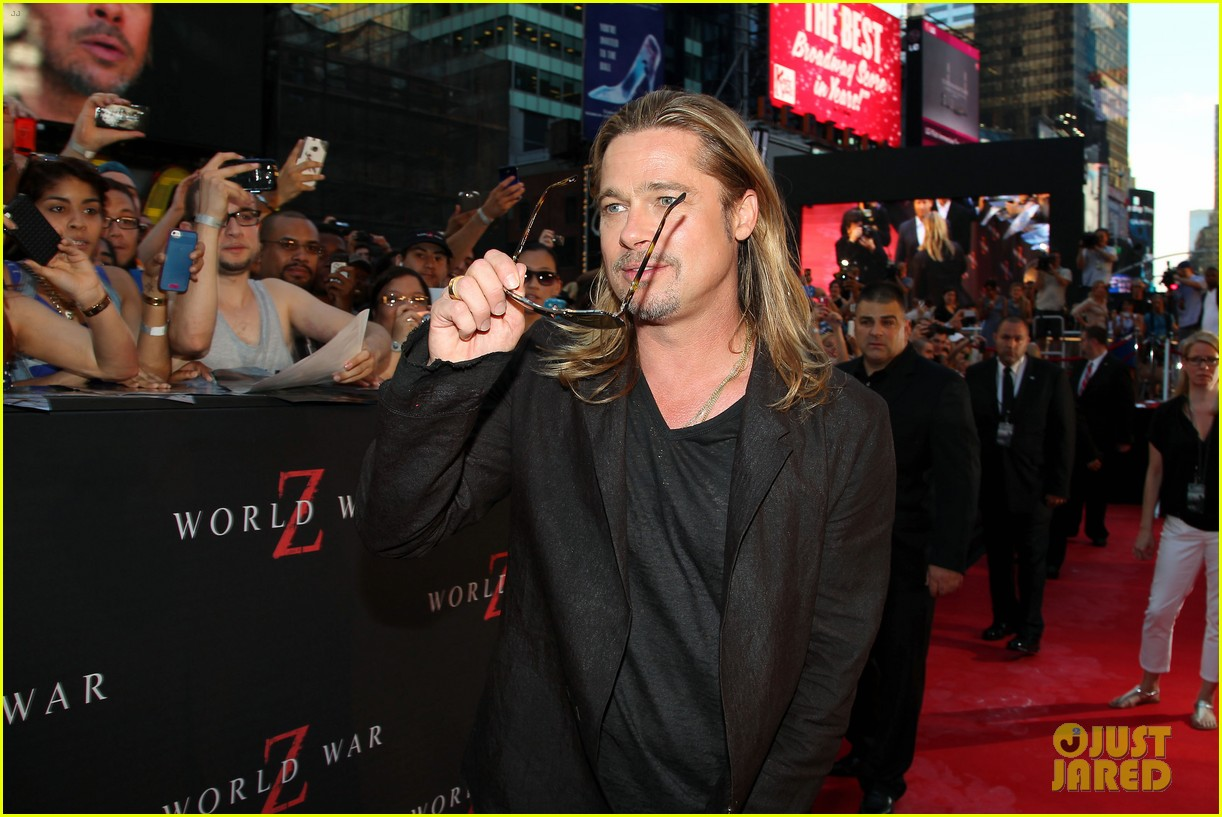 brad pitt world war z new york premiere 232893165