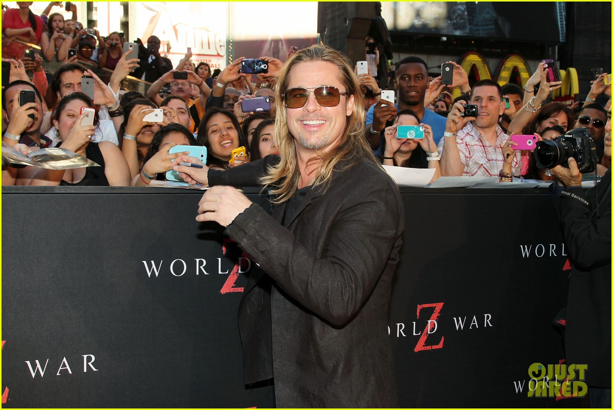 brad pitt world war z new york premiere 252893167