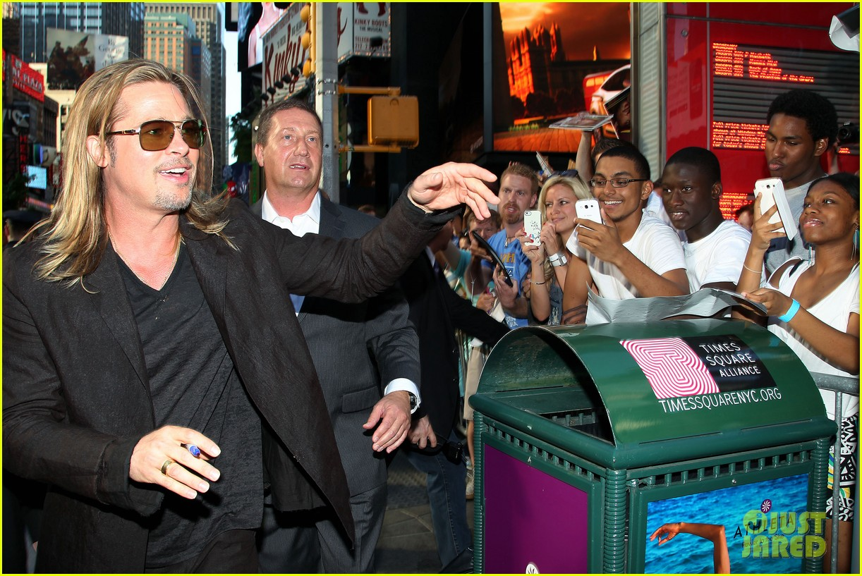 brad pitt world war z new york premiere 332893175