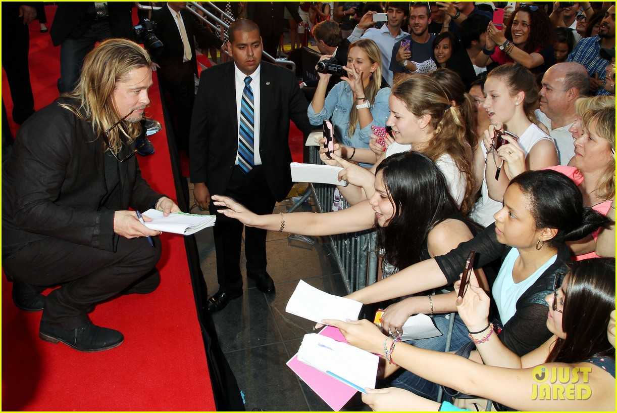 brad pitt world war z new york premiere 362893178