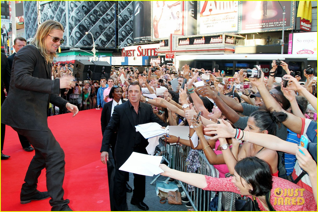 brad pitt world war z new york premiere 382893180