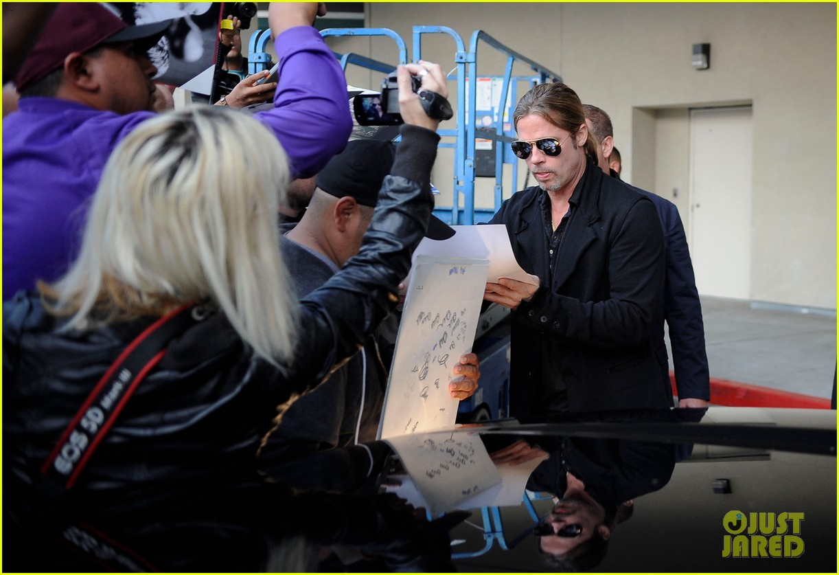 brad pitt continues world war z surprises in los angeles 042886725