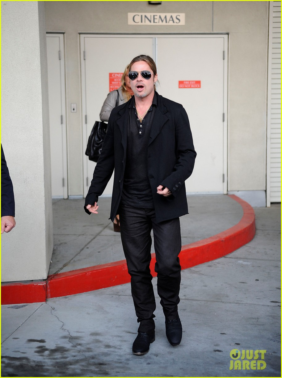 brad pitt continues world war z surprises in los angeles 082886729
