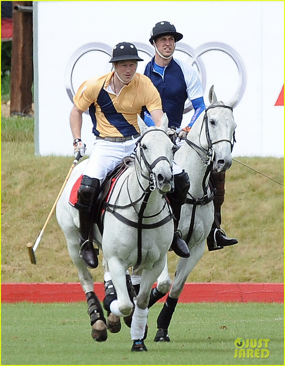 prince william harry international audi polo game 022892302