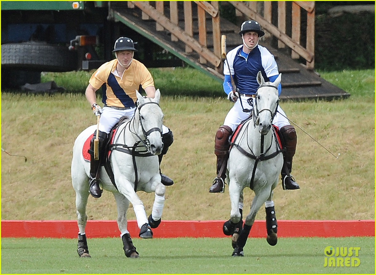 prince william harry international audi polo game 042892304