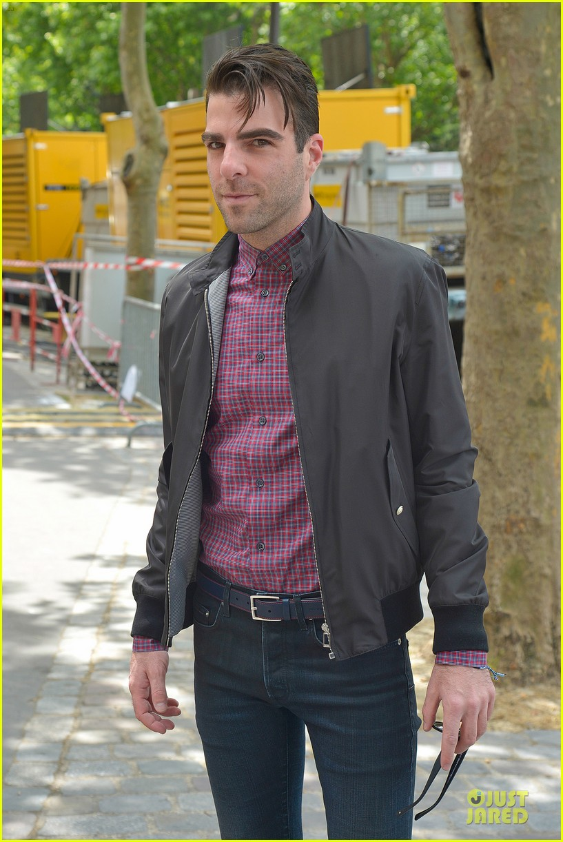 zachary quinto christian dior paris fashion show 062900522