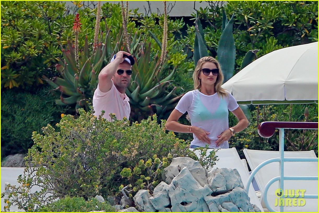 rosie huntington whiteley bikini vacation with jason statham 132888166