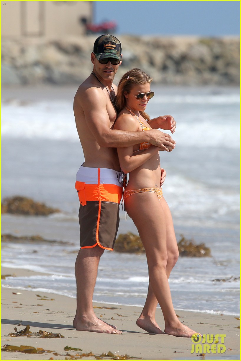 leann rimes bikini beach trip for eddie cibrian 40th bday 062895228