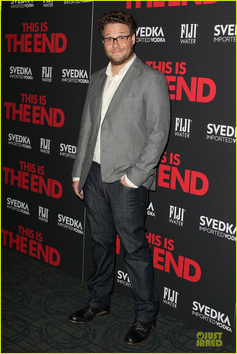 seth rogen megan hilty this is the end nyc screening 032888663
