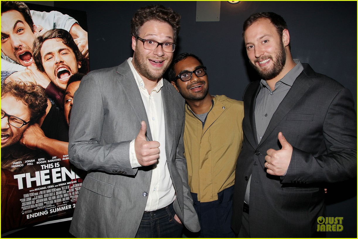 seth rogen megan hilty this is the end nyc screening 042888664