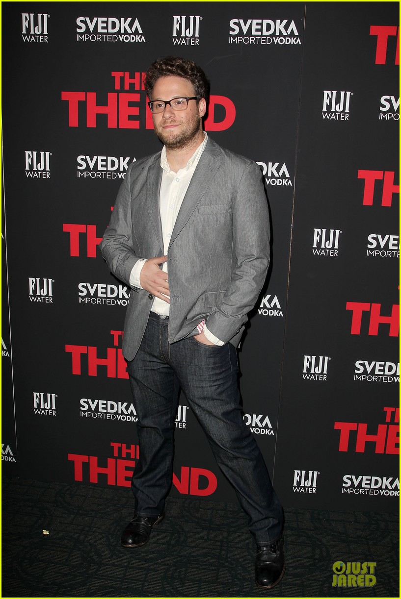 seth rogen megan hilty this is the end nyc screening 092888669