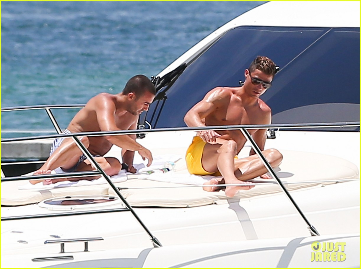 cristiano ronaldo shirtless yacht ride in miami 192891366