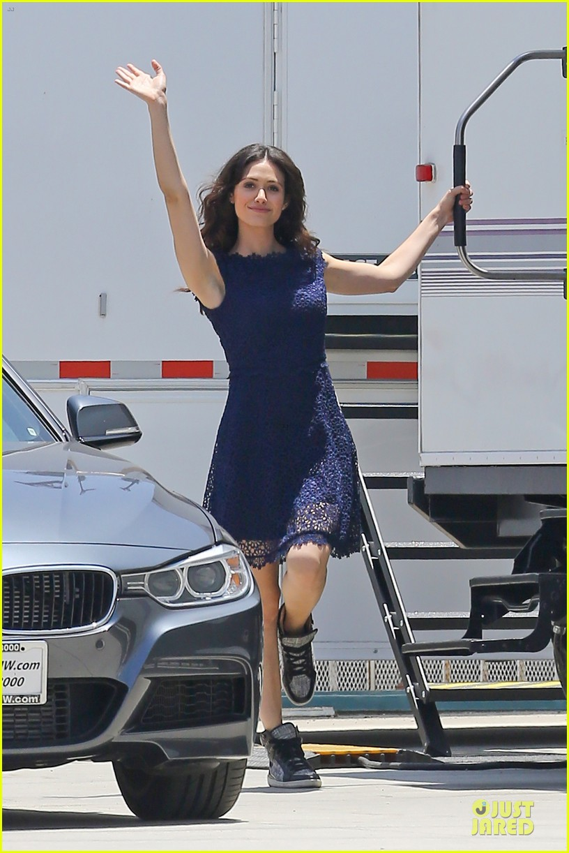 emmy rossum justin long makes me laugh too much on comet 092893917
