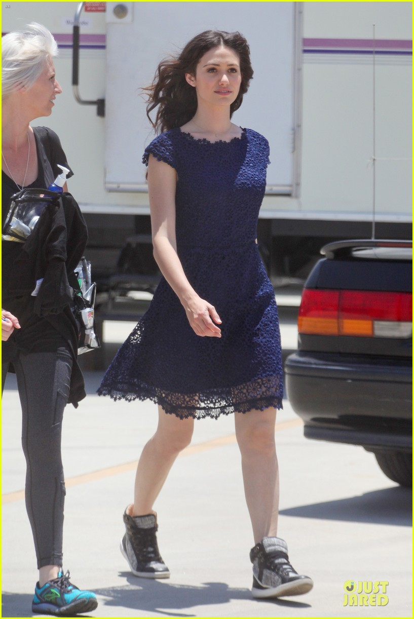 emmy rossum justin long makes me laugh too much on comet 172893925