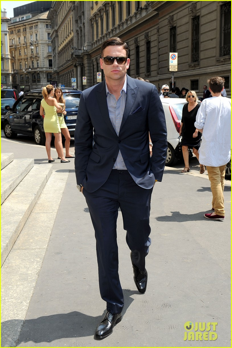mark salling michael pitt milan fashion week shows 092897258