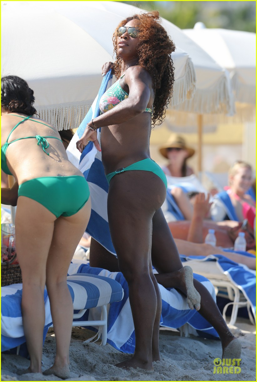 serena williams miami bikini beach babe 03