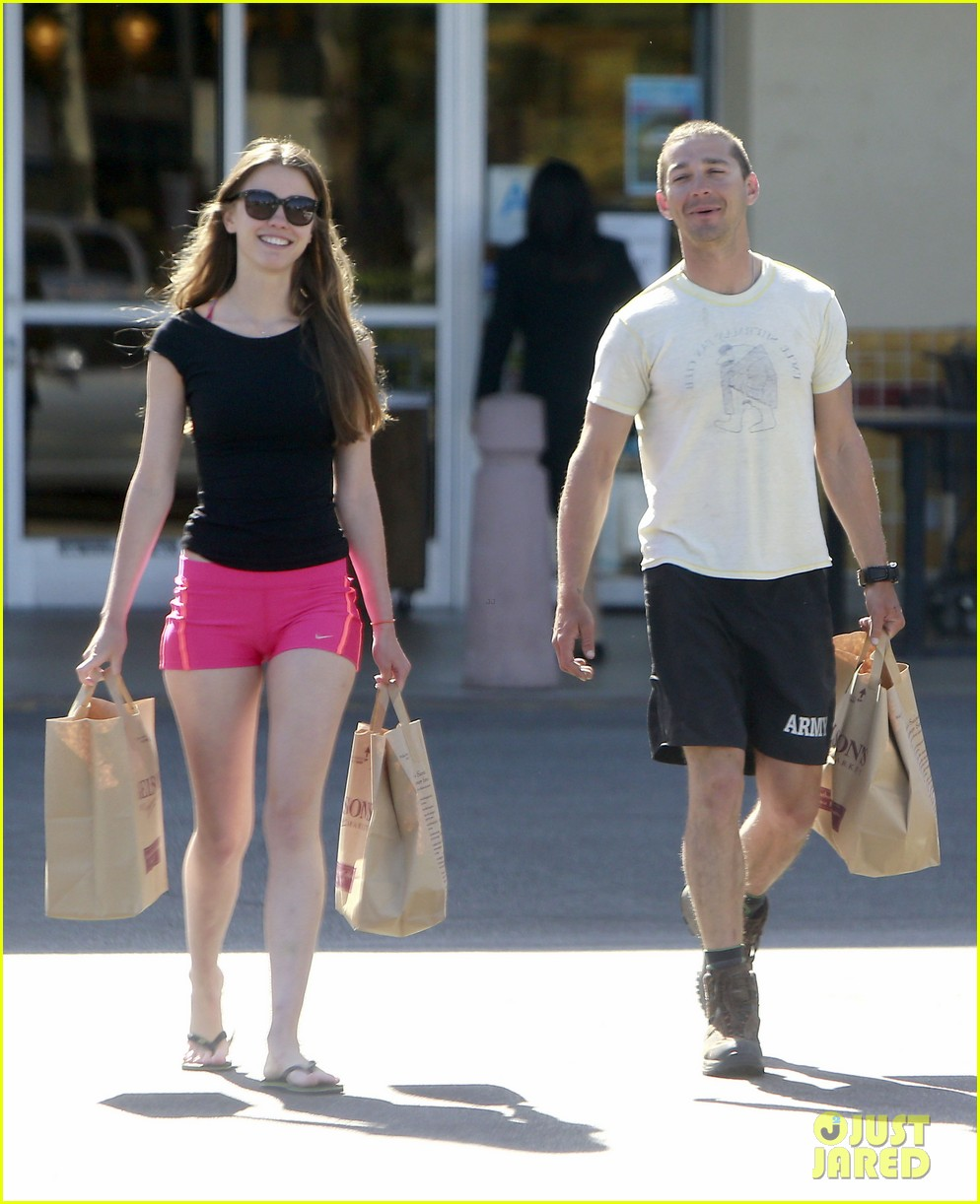shia labeouf mia goth stock up for summer weekend 102895810