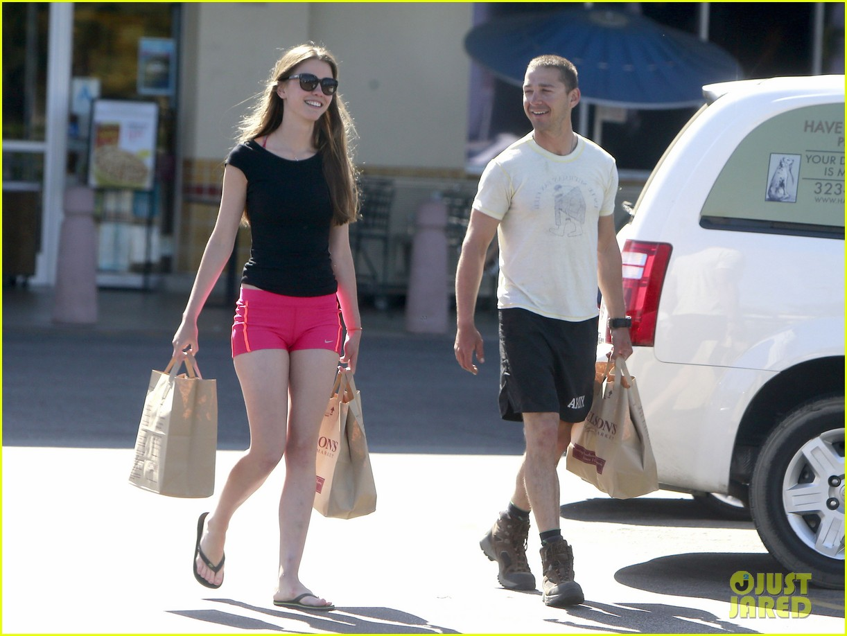 shia labeouf mia goth stock up for summer weekend 112895811