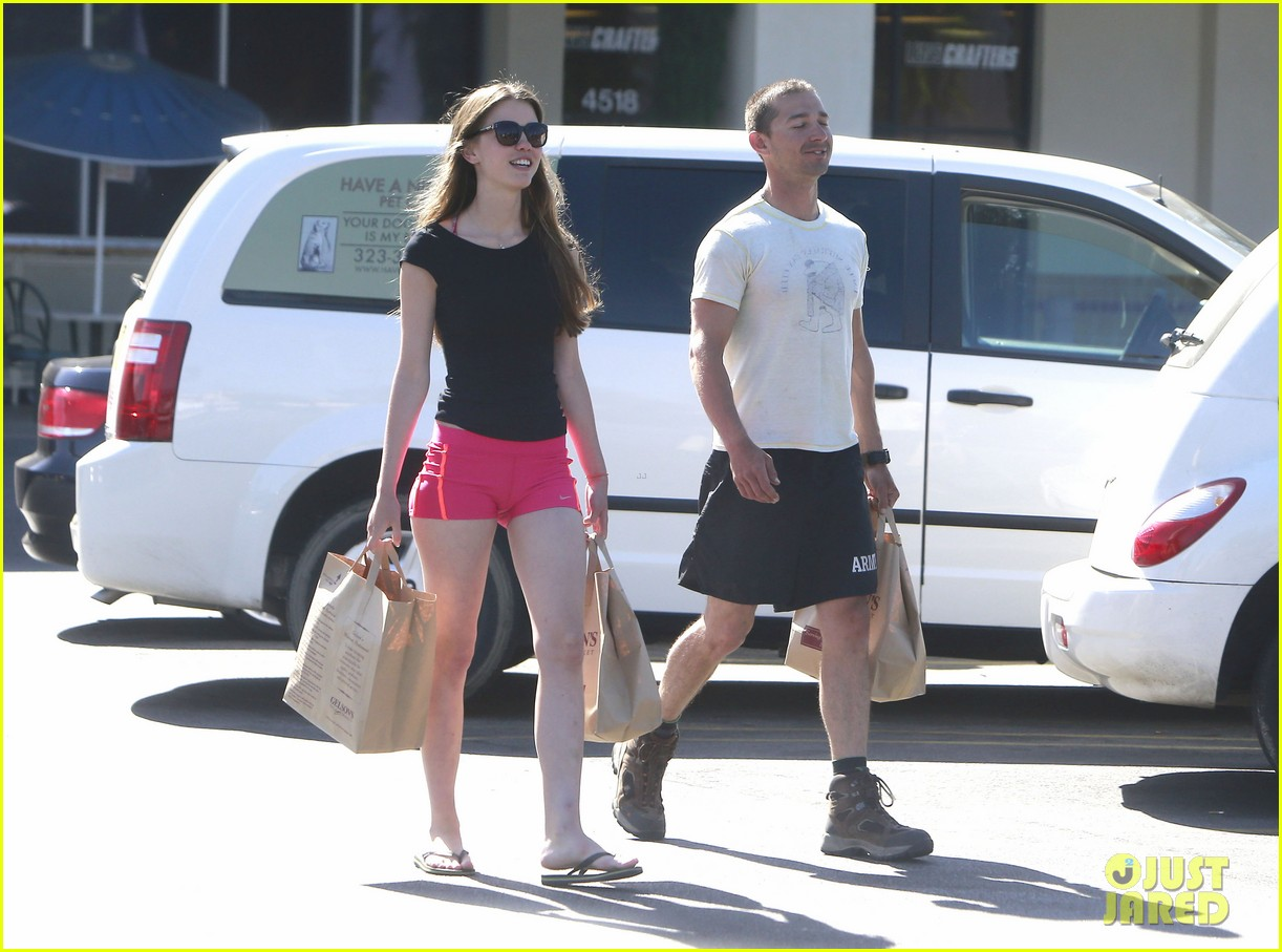 shia labeouf mia goth stock up for summer weekend 132895813