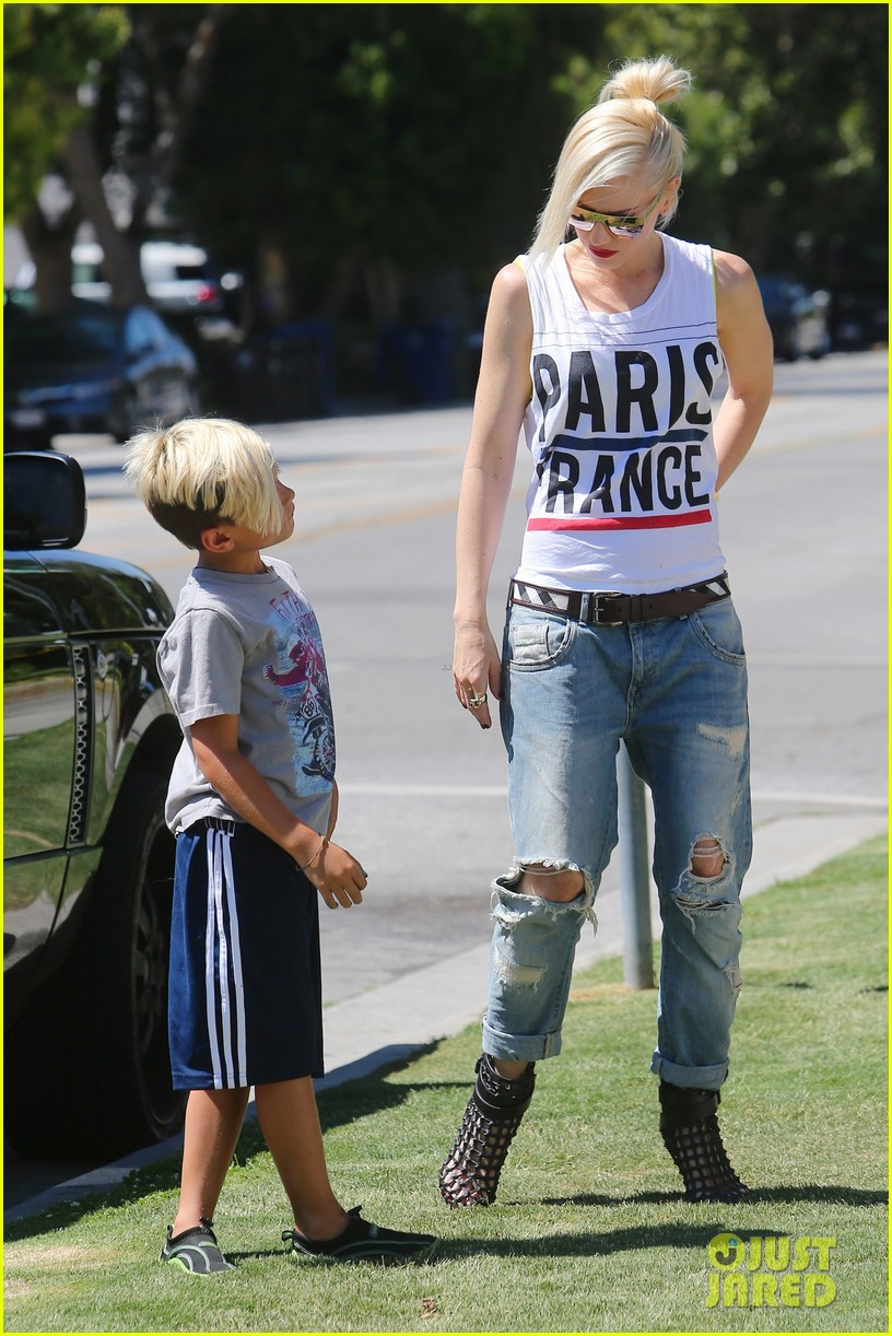 gwen stefani gavin rossdale ice cream with the kids 082899415