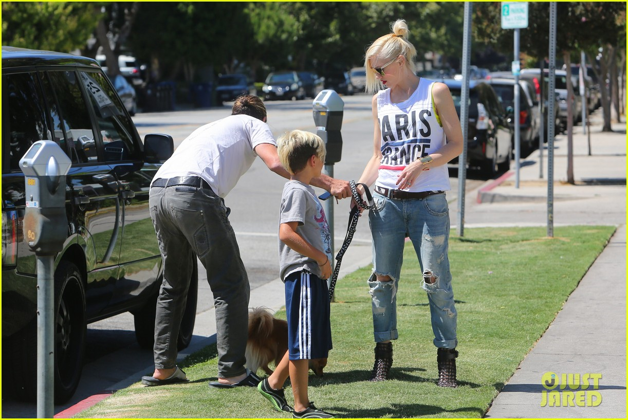 gwen stefani gavin rossdale ice cream with the kids 092899416