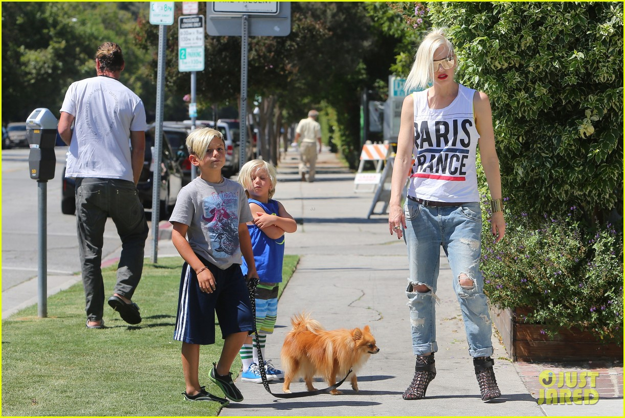 gwen stefani gavin rossdale ice cream with the kids 142899421