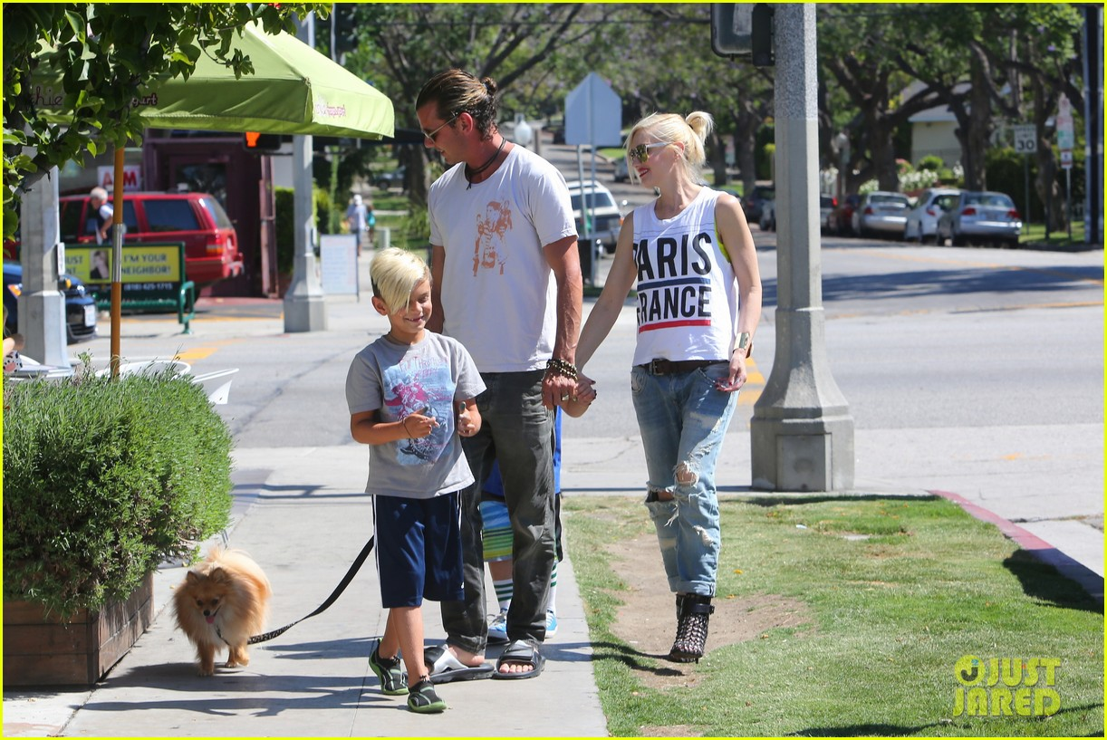 gwen stefani gavin rossdale ice cream with the kids 332899440