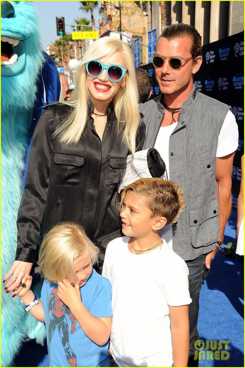gwen stefani gavin rossdale monsters university premiere with the kids 062893291