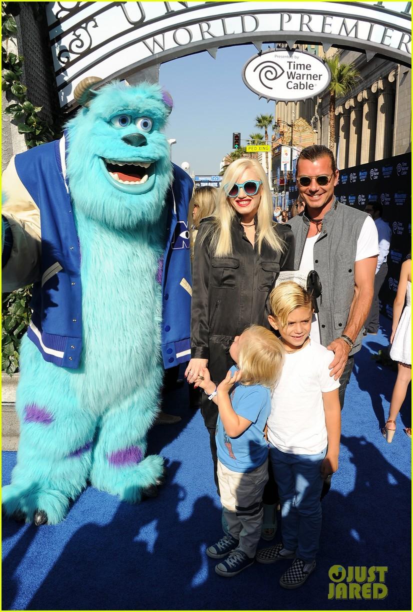 gwen stefani gavin rossdale monsters university premiere with the kids 072893292
