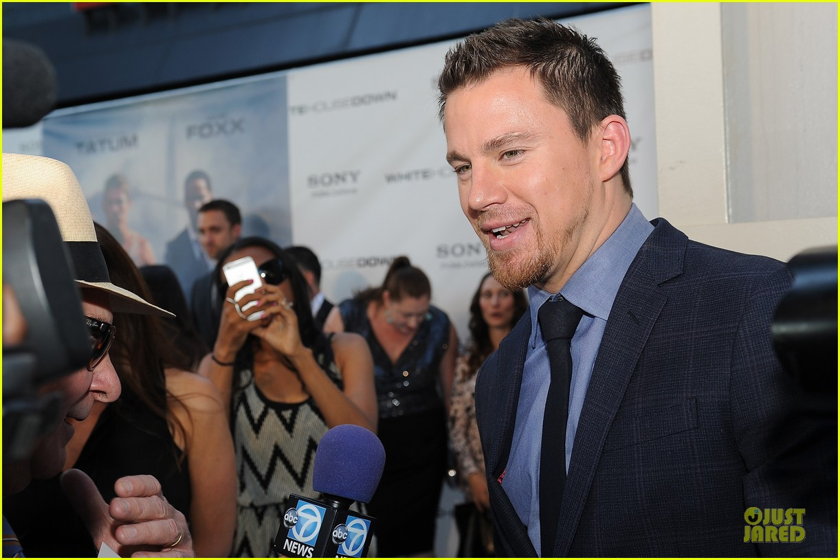 channing tatum jamie foxx white house down dc screening 12
