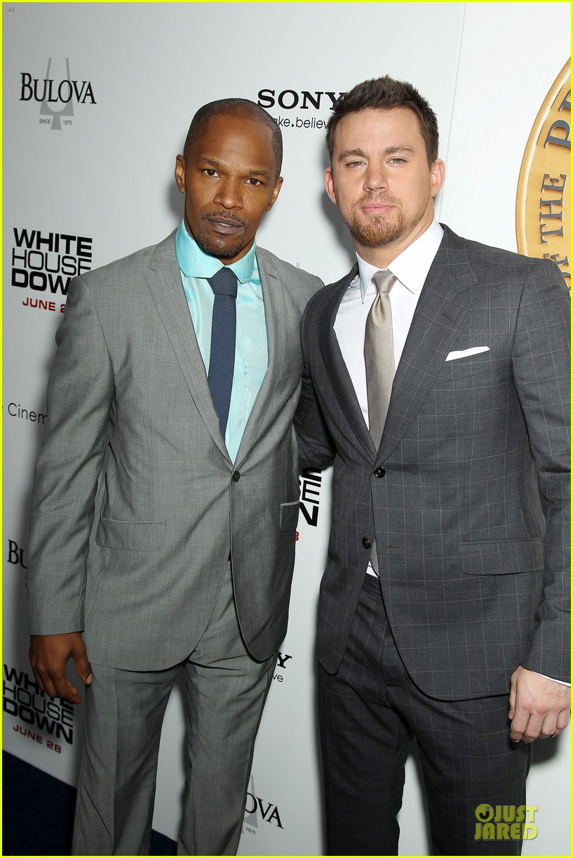 channing tatum jamie foxx white house down nyc premiere 132898505