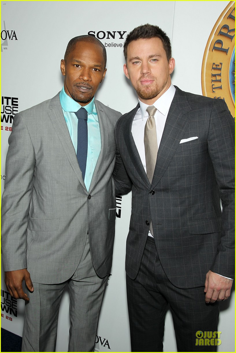 channing tatum jamie foxx white house down nyc premiere 14