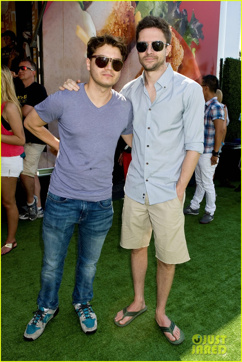 topher grace garrett clayton just jared summer kick off party mcdonalds 352883286