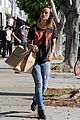 olivia wilde preps for new movie with plaster plastic bags 01