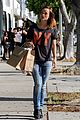 olivia wilde preps for new movie with plaster plastic bags 06