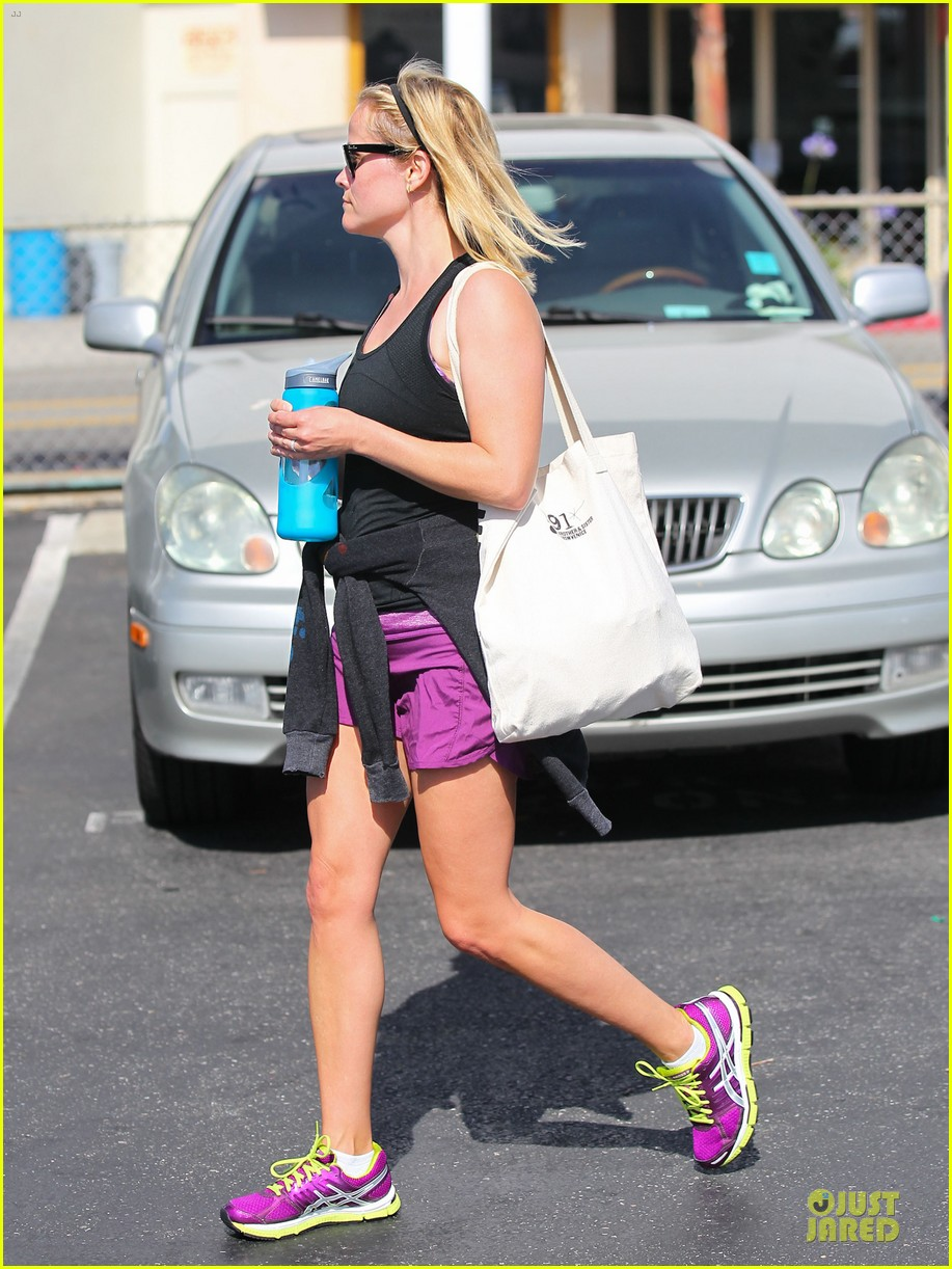 reese witherspoon matching fitness shorts shoes 242894821