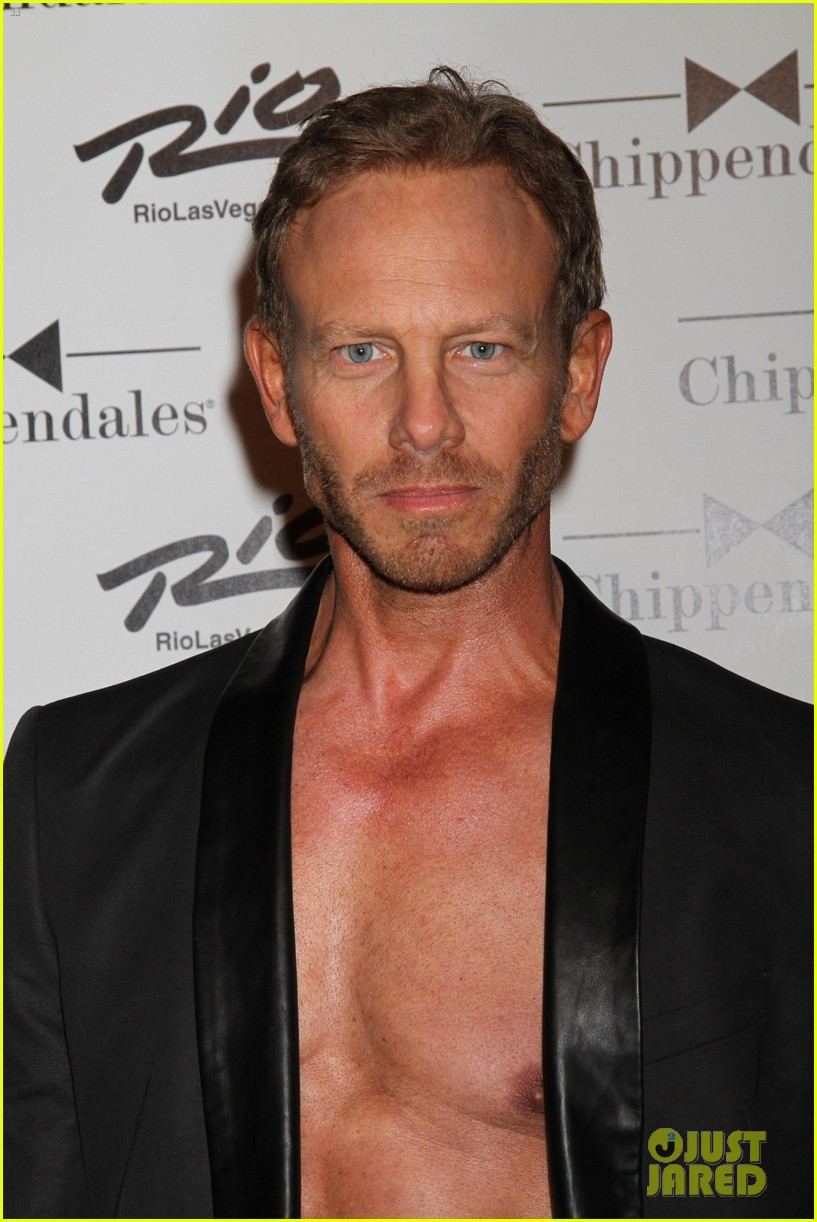 ian ziering shirtless chippendales debut 042887412